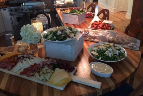 catering spread for wedding